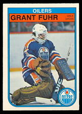 1982 83 OPC O PEE CHEE 105 GRANT FUHR RC ROOKIE NM EDMONTON OILERS FREE SHIP USA