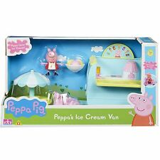 New Peppa Pig Peppa's Ice Cream Van Toy Playset With Figures & Accessories
