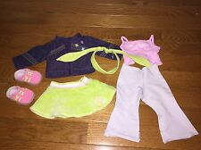 American Girl On the Go Outfit Just Like You 2-in-1 Jacket Pants Skirt Sneakers