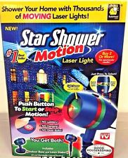 Star Shower As Seen on TV Motion Laser Lights Star Projector NEW!