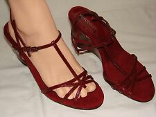 Aerosoles Womens Red Strappy Wedge Shoe NWOB - Size 10M