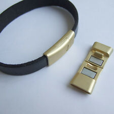Strong Magnetic Clasps Findings Matte Gold for Leather Bracelet Findings 2x12mm