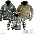 MENS ARMY HOODIE FULL ZIP JACKET MTP CAMO FLEECE LINED HOODY AIRSOFT MULTICAM