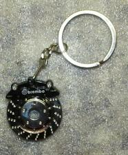 BREMBO Black CALIPER Brake Rotor Disc Metal Alloy KEY CHAIN Ring Keychain NEW
