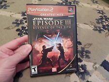 STAR WARS EPISODE III REVENGE OF THE SITH PLAYSTATION 2 PS2 COMPLETE CIB!
