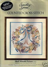 """Shell Wreath Picture Counted Cross Stitch Kit Something Special 50235 14"""" x 14"""""""