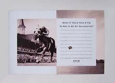 SECRETARIAT - UNIQUE KENTUCKY DERBY HORSE RACING ADVERTISING POSTER!