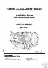 Lycoming Parts Catalog PC-406-1
