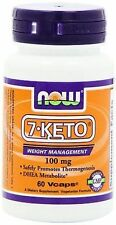 7-Keto® DHEA Metabolite 100 mg 60 Veg Capsules - NOW Foods