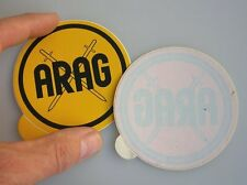 INSIDE WINDOW ARAG CAR DECAL BADGE VW COX BUG BMW PORSCHE 356 911 MERCEDES NOS