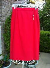 NWT GUCCI RED CREPE STRAIGHT SKIRT   NWT   SIZE 8   ORIG $330