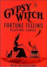 GYPSY WITCH FORTUNE TELLING PLAYING CARDS - NEW PAPERBACK BOOK