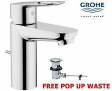 GROHE BAULOOP MODERN MONO BASIN BATH BATHROOM SINK MIXER TAP WITH POP UP WASTE