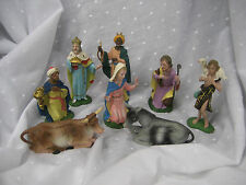 Vintage Nativity 8 pieces made in Italy plastic