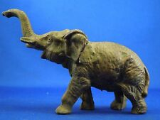 Vintage Lead Hollow Cast Elephant Walking with Trunk Raised - Figure Sculpture