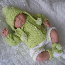 Creative dolls designs Knitting Pattern for Pram Set for 18 inch Berenguer Doll
