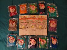 Complete set 12 1998 McDonald's Ty Beanie Baby's with 3 orig BB Happy Meal bags
