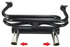 Air-Cooled VW Bug & Ghia EMPI GT Style Angled 2 Tip Exhaust System, Black