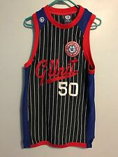 VTG G Unit Offical Pinstripe Color Block 50 Cent Sewn Authenic Jersey Sz Medium