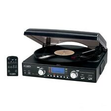 Stereo Record Player Turntable Convert Lp To Mp3 Cds 3 Speed Usb Sd Port Music W