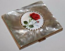 Vintage Compact Loose Powder Mother Of Pearl And Porcelain