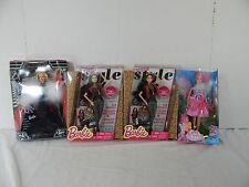 Barbie Lot of 4 Steppin' Out Mariposa & The Fairy Princess Style Magazine Barbie