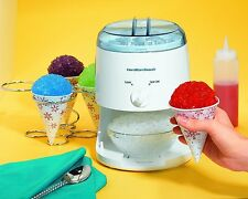 Snow Cone Maker Icy Treat Hamilton Beach Electric Crusher Ice Shaver Machine NEW