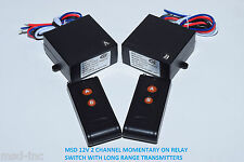 MSD INC 12V 2ch Momentary relay switch 2 long range remote control switch RM22P2