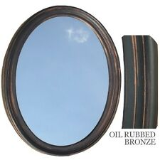 Bathroom Mirror Vanity Oval Framed Wall Mirror, Oil Rubbed Bronze