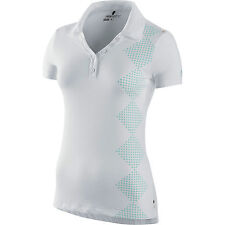 NIKE GOLF WOMENS NOVELTY SPORT PRINT POLO SHIRT DRI FIT DRY M $70 454065 white