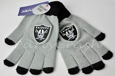 Official NFL Winter Stretch Knit Gloves with Touch Screen for texting Raiders