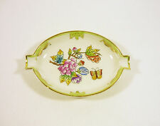 """HEREND, QUEEN VICTORIA (VBO) SMALL ASHTRAY 4.4"""", HANDPAINTED PORCELAIN  !"""