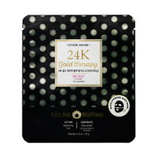 [Etude House] 24K gold Therapy black Pearl Mask[Brightening] 1ea(32g)
