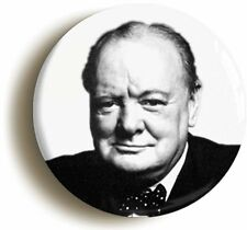 WINSTON CHURCHILL BADGE BUTTON PIN (Size is 1inch/25mm diameter) WW2