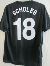 Manchester United 2009-2010 Scholes 18 Champions League Football Shirt L /35659