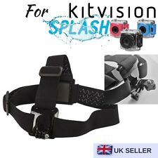 Head Helmet Strap Harness Mount for Kitvision Splash Edge HD10 Action Camera