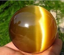 New ASIAN QUARTZ TIGER EYE CRYSTAL HEALING BALL SPHERE 40MM + STAND