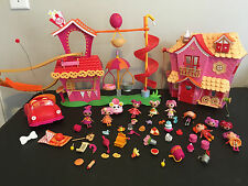 Mini Lalaloopsy Toy Doll Lot with Houses, Dolls and Accessories