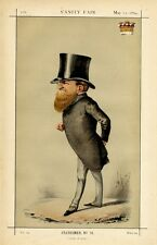 BRITISH POLITICIAN EARL DE GREY AND RIPON 1869 VANITY FAIR CARICATURE BY APE