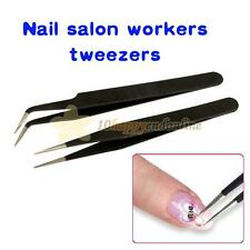 2 Different Style Acrylic Gel Nail Art Rhinestones Paillette Nipper Picking Tool