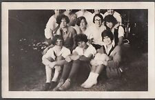 VINTAGE 1924 BUFFALO MILLER PLACE NEW YORK GIRLS CAMPING CAMP ALOHA OLD PHOTO