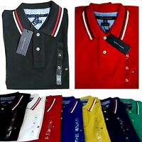 TOMMY HILFIGER MENS SHORT SLEEVED POLO SHIRT DESIGNER TOP 7 COLOURS 4 SIZES NEW