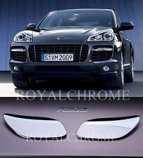 x2 ROYAL Head Light Washer CHROME Covers for Porsche Cayenne 07-10 LCI Type 957