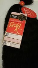 "QTY 2pk 100% REAL Human Hair Extensions 18"" #1 Gold K Super Bulk WET & WAVY 200G"