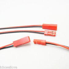 4Pairs 8Pcs 10cm Wire JST 2P Cable Connectors for DIY RC Model