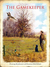 THE GAMEKEEPER PHEASANT SHOOT POACHER LABRADOR DOG METAL PLAQUE TIN SIGN 324