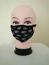 ReebokLogo Dust/Pollution Mouth/Face Mask & Nose Disposable Medical Safety Black