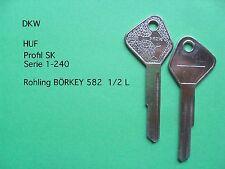 DKW 1000SP AUTO UNION 60,80  1 Schlüssel Rohling  HUF SK für OLDTIMER  582,5LBö