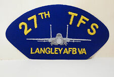 27th TFS Langley AFB VA BLUE with plane design patch patches USN USAF Navy NEW