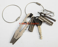 2x Aircraft Wire Cable Mechanics Keyrings Tactical EDC EOD Surefire Gear Lanyard